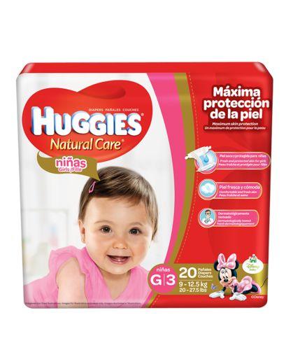 Huggies Natural Care Girls G/3 Maxi 20 unidades.