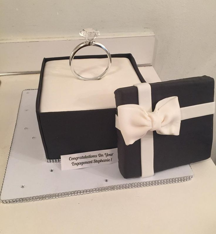 An Engagement ring box cake for a special bride to be ✨ w/ @mell_cakes