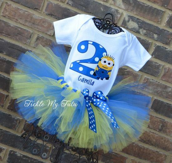 Minion Inspired Birthday Tutu Outfit