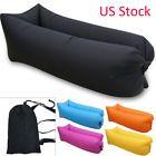 US STOCK Lazy Inflatable Air Bed Lounger Sofa Beach Chair Portable Sleeping Bag