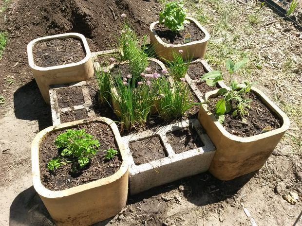 Raised Herb Garden #gardening #decoration