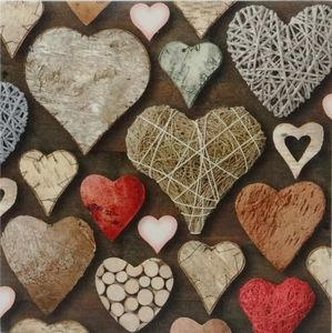 Rustic Hearts Country Style Canvas Picture - $8.00. Available from http://www.wallartroad.com/small-art-pieces-under-15-00/ #wall #art #road #canvas