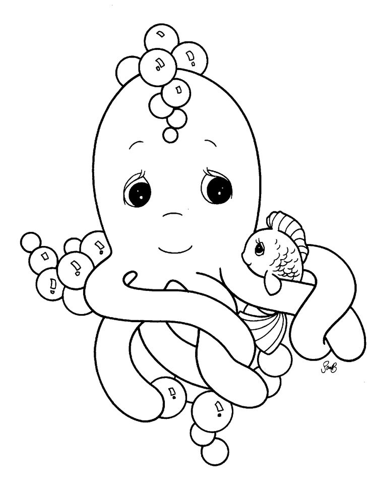 113 best ocean images on pinterest | drawings, coloring sheets and ... - Cute Baby Seahorse Coloring Pages