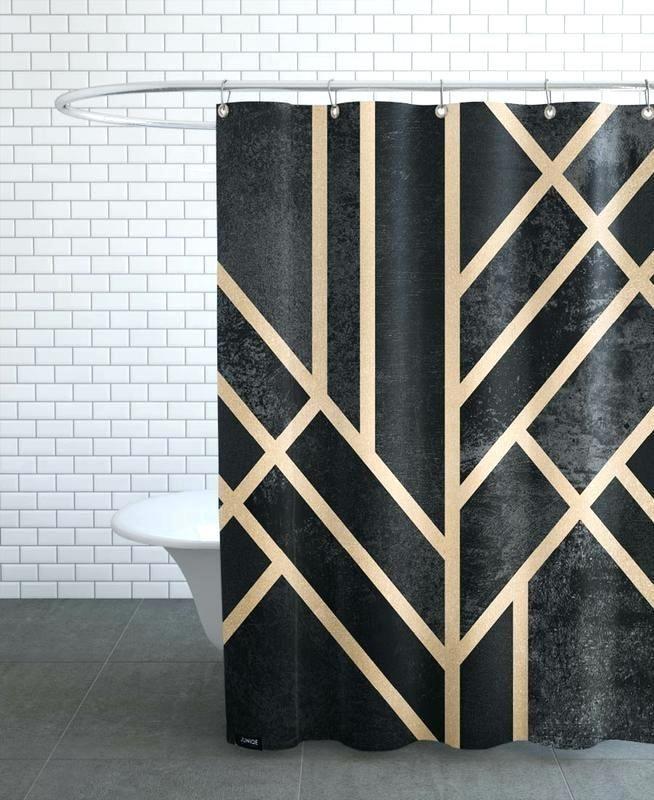 Home Living Shower Curtains Art Deco Curtain Uk Black Home