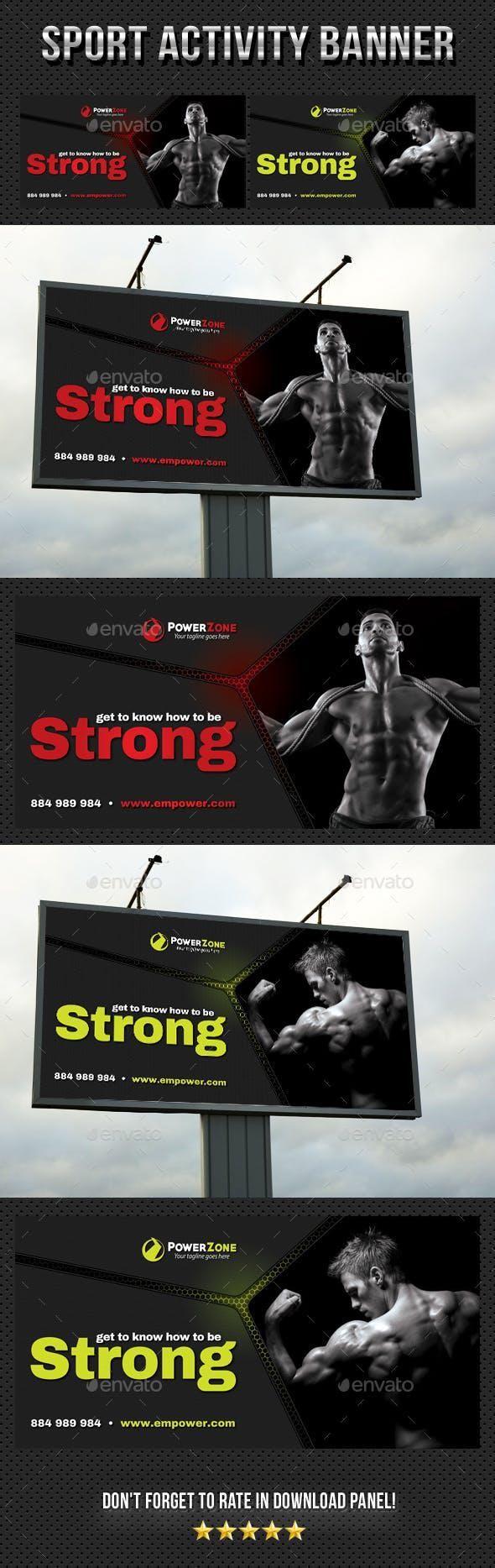 Sport Activity Outdoor Banner 03 #graphicdesign #SignageDesign #graphicresources...