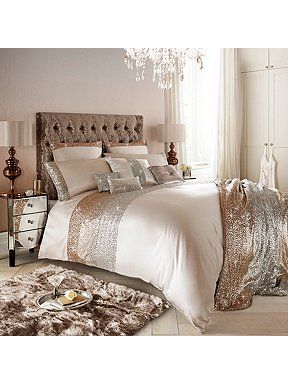 Mezzano rose gold bed linen range