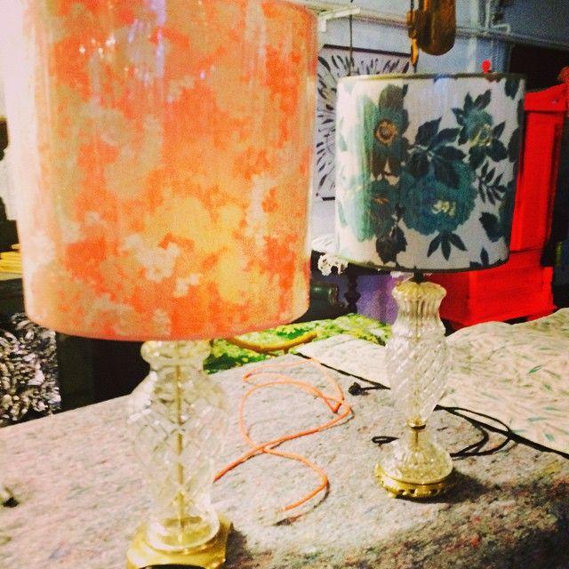 #studioårhus #miss@ystudio #vintagelamps #newlampshadesvintagefabric storiesbyrikkemai #homestories
