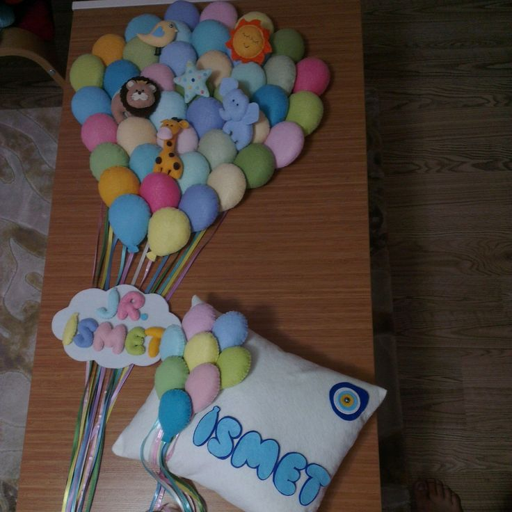 baby boy baloon balon kapı süsü