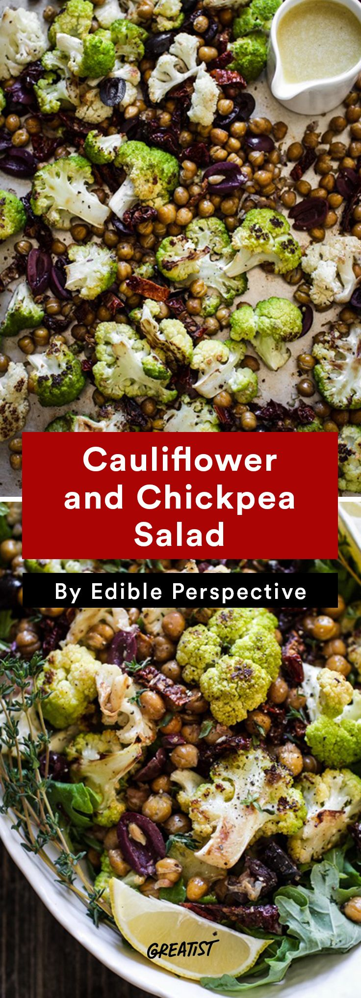6. Cauliflower and Chickpea Salad #warm #salad #recipes http://greatist.com/eat/warm-salad-recipes-for-when-its-cold-out