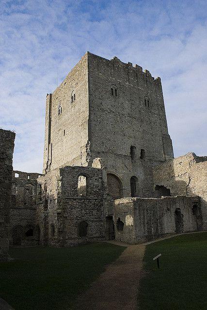 Porchester Castle Keep, Portsmouth, England