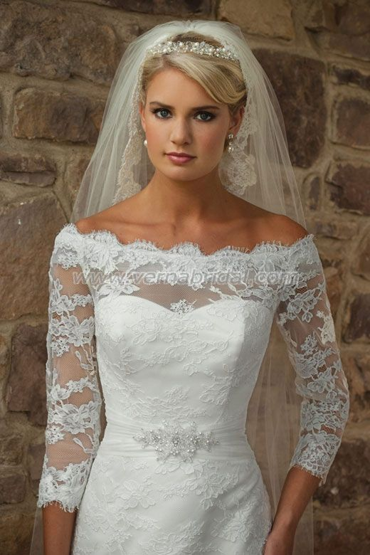 almost exactly what i want ... something NOT sleeveless and a tiara veil