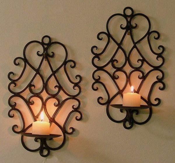 un photophore mural pour la d co magique de vos murs bougies bougeoirs pinterest fer forg. Black Bedroom Furniture Sets. Home Design Ideas
