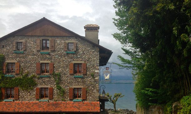 Yvoire is a beautiful #medieval #village on the French side of Lake Geneva. A mere 20-minute sferry #ride from the Swiss town of Nyon, Yvoire is a great day #trip to make when visiting Geneva or Lausanne. #TroverDetour Discovered by Six Bones at Hotel Restaurant Du Port, Yvoire, France