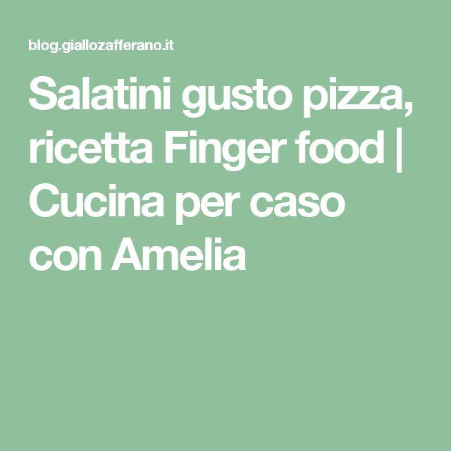Salatini gusto pizza, ricetta Finger food | Cucina per caso con Amelia