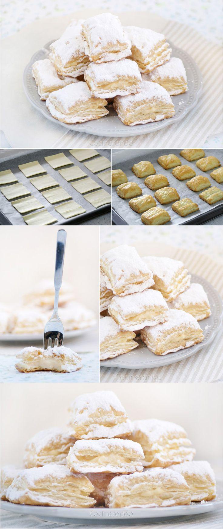 Pecados de Reposteria » Miguelitos, pasteles de hojaldre y crema