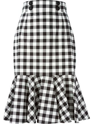 Check Ruffle Skirt - Shuga Palace