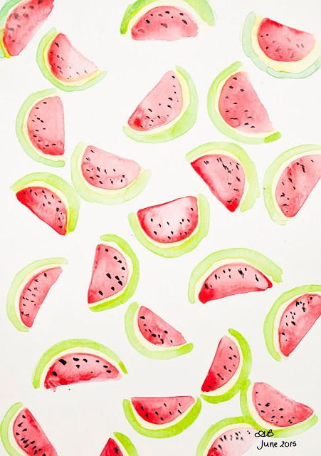 I have a little present for you today! If you are following along with my June Instagram challenge you will have noticed that today, day 6 the prompt is 'watermelon'. Now if you are having trouble wit