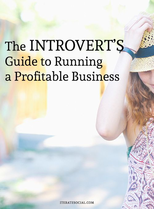 The Introvert's Guide to Running a Profitable Business - business tips for introverts                                                                                                                                                                                 More