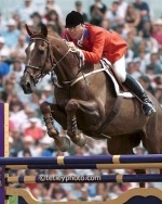 Big Ben, Canada's most famous show jumping champion, ridden by Ian Millar, was born April 20th, 1976 in Belgium.