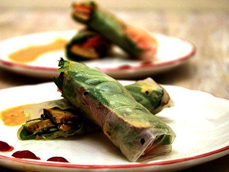 Sommarrullar med tofu och grönsaker