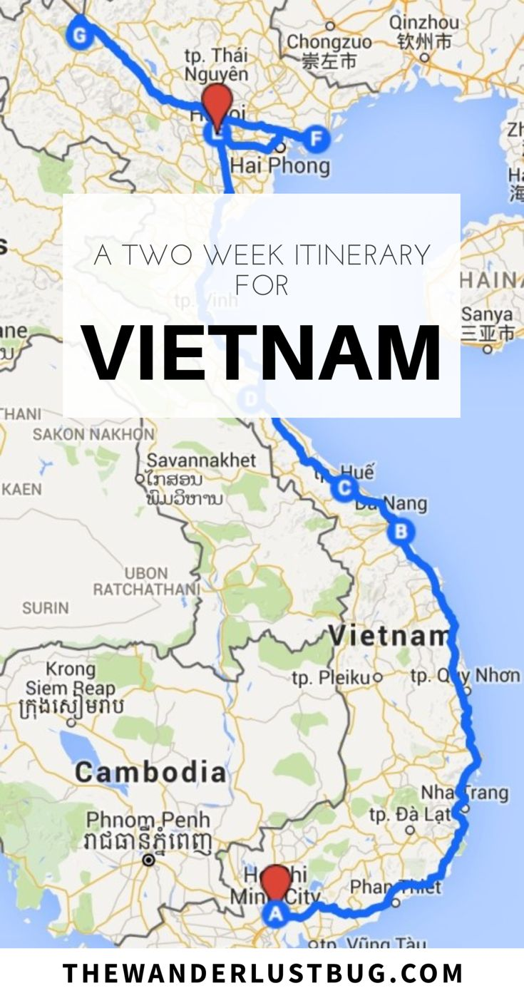 An Awesome Two Week Itinerary For Vietnam. Getting You To Ho Chi Minh, Hoi An, Phong Nha, Hanoi, Ha Long Bay, Sapa. Including Mekong Delta, Floating Markets, Night Bus, Trekking, Hiking, Beach, Mopeds, Hai Van Pass, Shopping, Markets, Caves, National Park, Home Stay, Water Puppet Show.