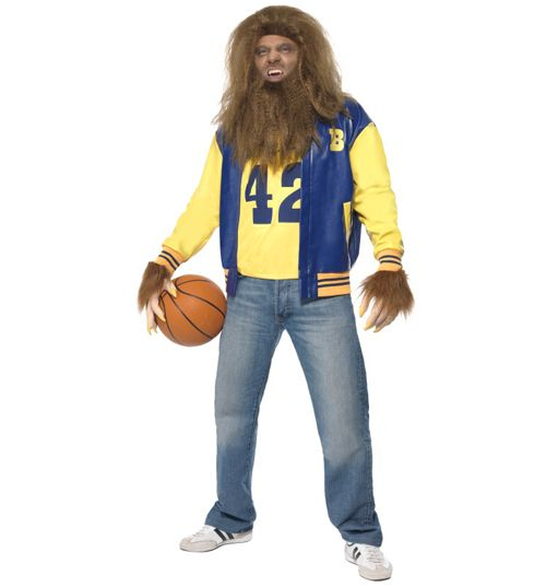 Mens Teen Wolf Fancy Dress Costume Unleash the Teen Wolf in you with this frankly awesome fancy dress outfit inspired of course by the classic 80s Michael J. Fox movie! It includes a blue, yellow and orange jacket, a yellow vest with 4 http://www.MightGet.com/february-2017-3/mens-teen-wolf-fancy-dress-costume.asp