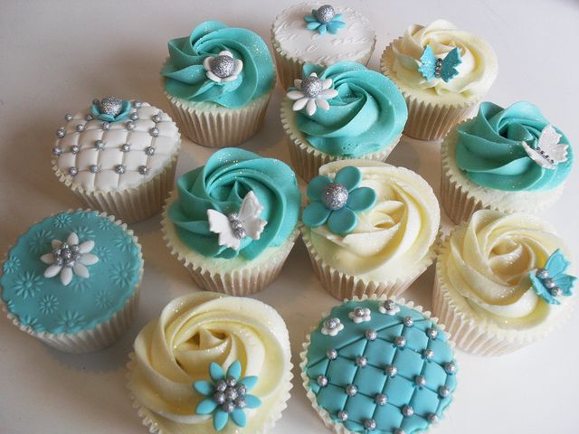 pretty turquoise cupcakes | Recent Photos The Commons Getty Collection Galleries World Map App ...