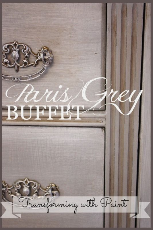 Buffet makeover, painted with AS Paris Grey Chalk Paint at Stone Gable blog