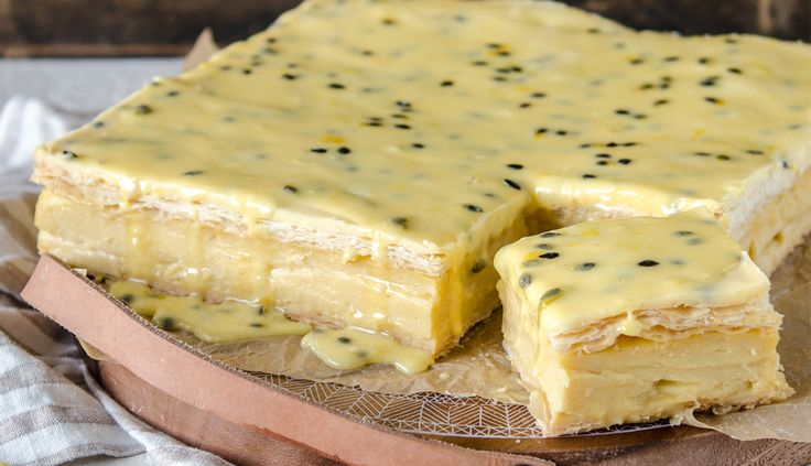 Passion fruit Vanilla Slice