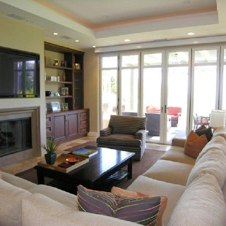 Love The Folding Glass Doors Out To Patio From Living Room