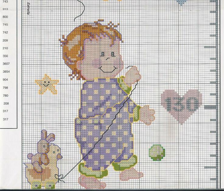 94 best images about punto croce metri crescita per for Farfalle a punto croce per bambini