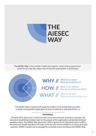 THE AIESEC WAY [refreshed]
