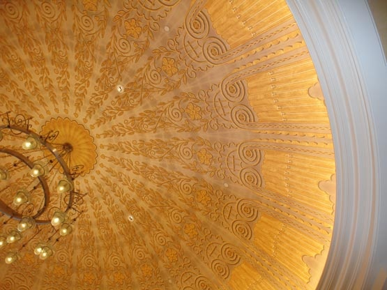 Painted Lobby Dome in Waldorf Astoria Orlando.