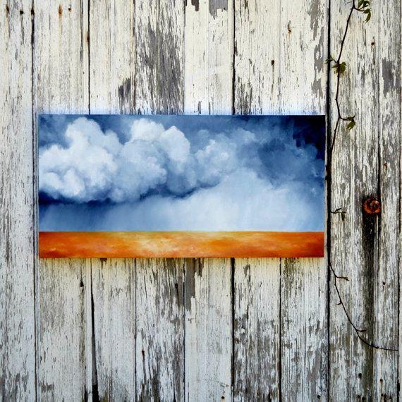 Original oil painting, Landscape - The Dry Season