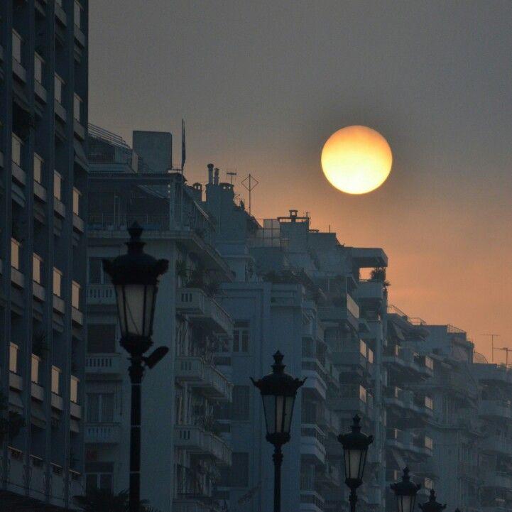 Thessaloniki's lights.