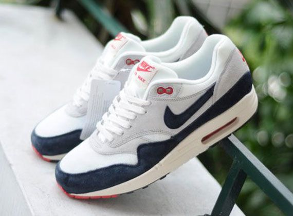 Nike Unisex's Running Shoes Air Max 1 Medium Grey / White-Drk Obsidian