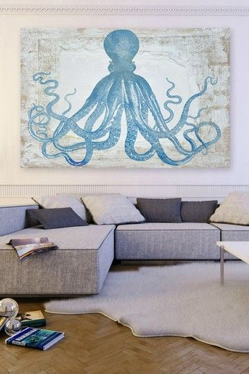 Oliver Gal Squid Blue Canvas Art by Oliver Gal Gallery on @HauteLook
