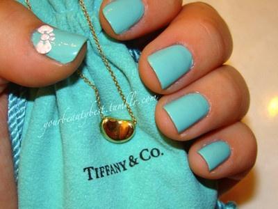 Tiffany Nail Art!: China Glaze, Nailpolish, Nails Color, Bows, Nails Polish Design, Beauty, Tiffany Blue Nails, Tiffany Nails, Nails Polish Color