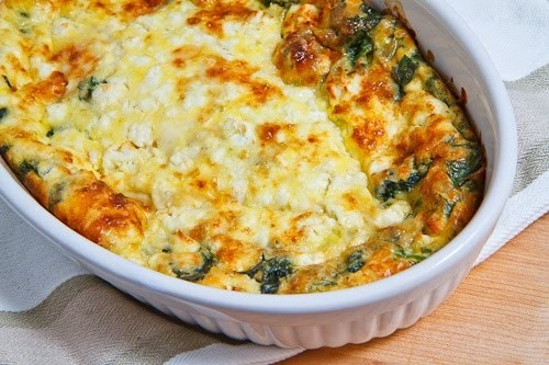 Spinach and Feta Casserole | Veggie Love | Pinterest