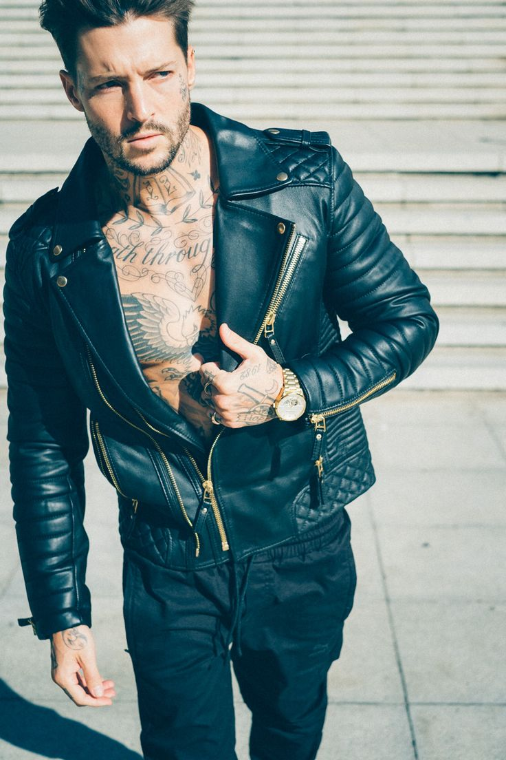 Leather jacket cape town - The Famous South African Tattoo Model Shane Burnell Posing In Boda Skins Leather Jacket Shot In Cape Town In 2016 Photography By Tim K Ck Pinterest