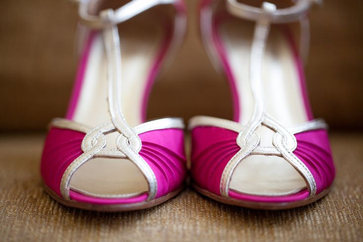 Pink wedding shoes Photos by mckenzie brown photography