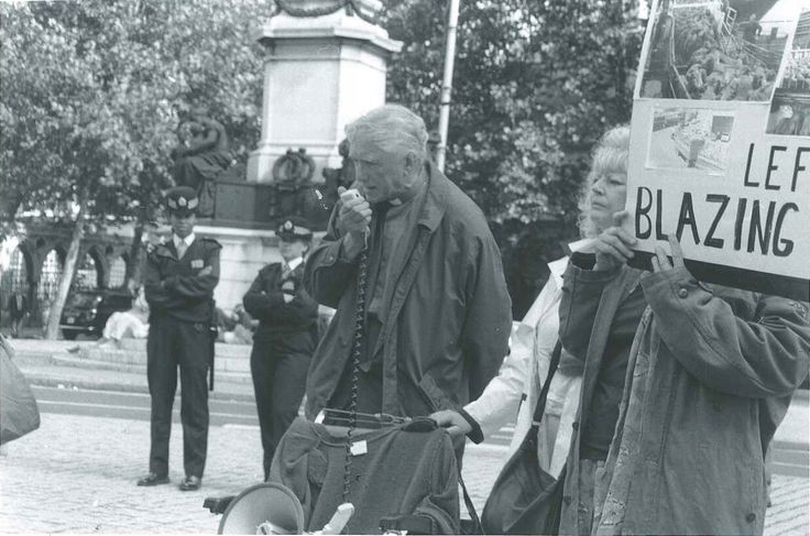 The protest was in front of the Australian High Commission, London (Old photo)