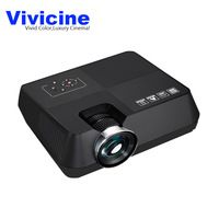 Newest Vivicine Portable LED Mini Home Theater Video Projector,Christmas Gift HDMI USB PC Handheld Movie Game Proyector Beamer
