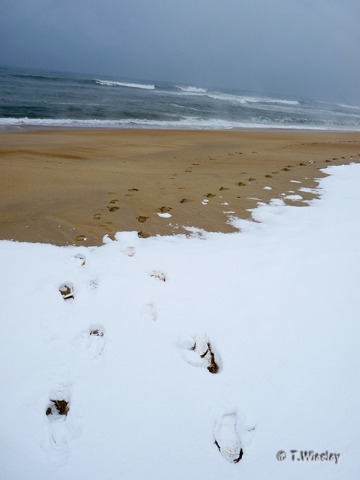 Snow and sand