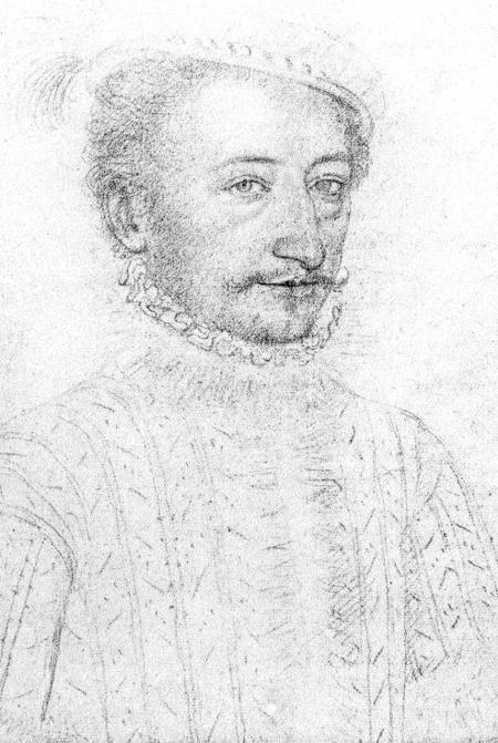 Louis Prince of Condé (1530-1569) Son of Charles de Bourbon, Duke of Vendome and Francoise d'Alencon. Husband to Elanor de Roucy de Roye and Francoise d'Orleans, Mademoiselle de Longuville