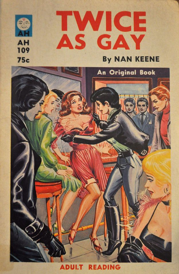 How you feel during Pride season: | 14 Times Lesbian Pulp Cover Art Perfectly…