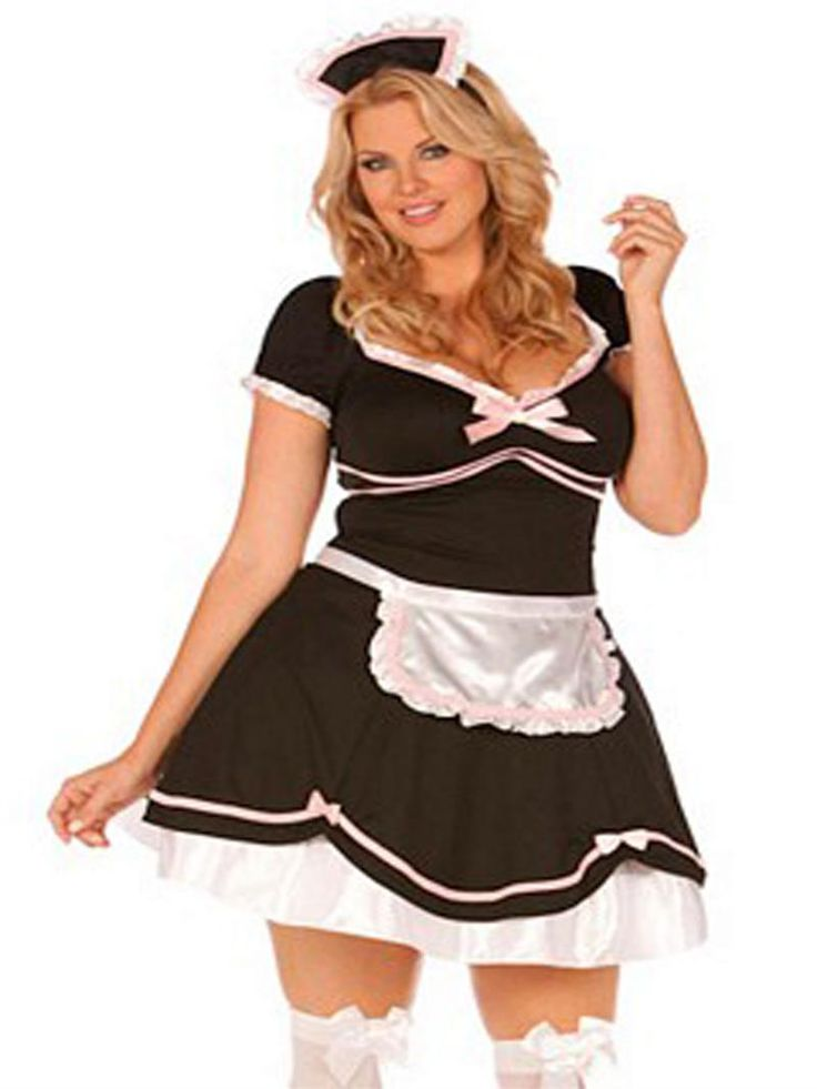 brunette french maid halloween