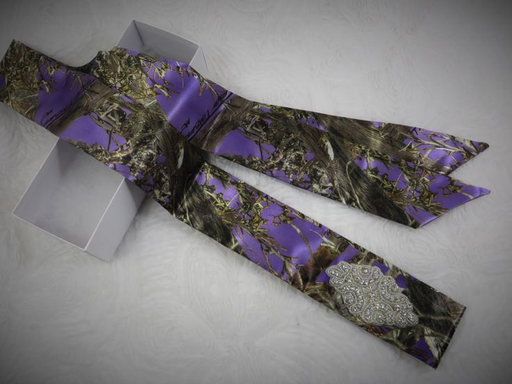 Purple True Timber Camouflage Dress Sash for wedding or prom *AVAILABLE IN MANY CAMO PATTERNS* by- TheMomentWeddingBoutique