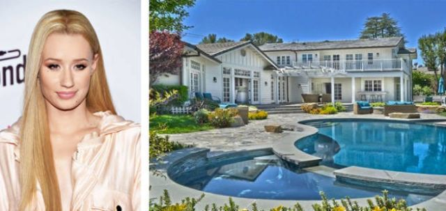 The Australian rapper bought fellow young celeb Selena Gomez's former home in Tarzana, California, for $3.45 million. I-G-G-Y bought the house with her boyfriend, L.A. Lakers player Nick Young, also known as Swaggy P.