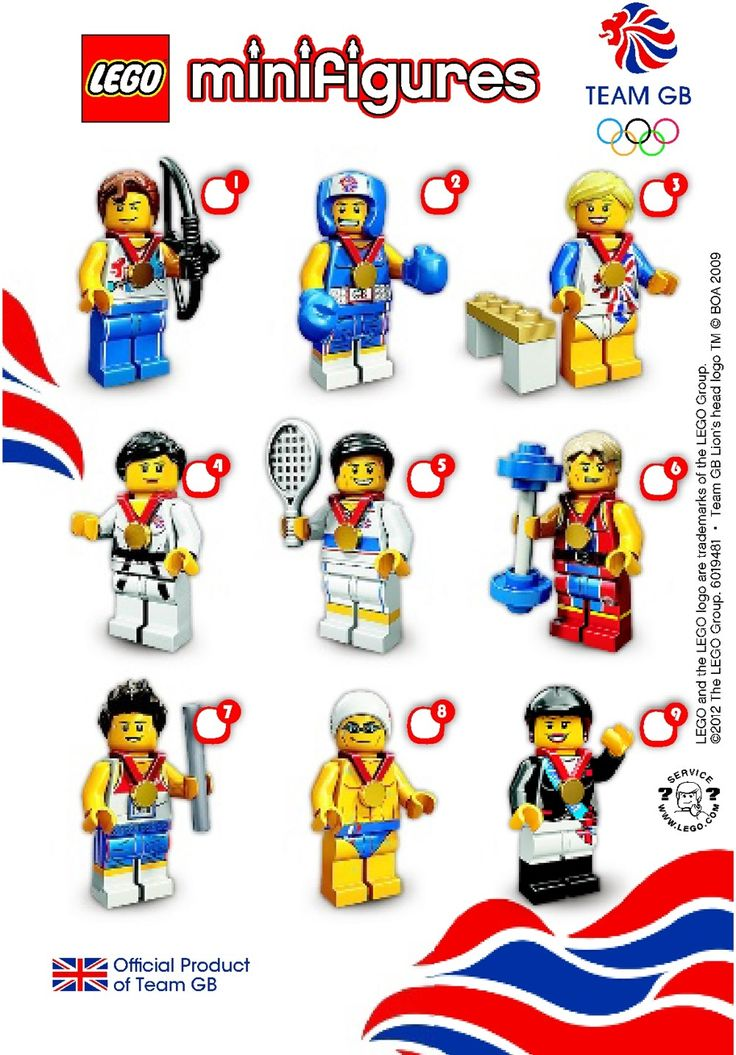 London 2012 Team Great Britain Lego Minifigures